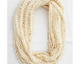 White tube scarf
