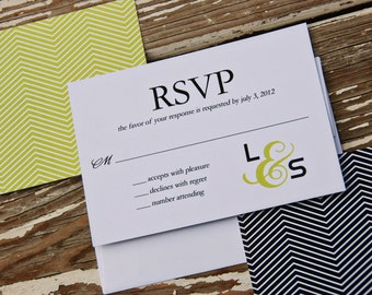 Wedding Invitation Reply Card - Lauren