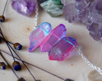 Unicorn quartz trio choker UNICORN SOUL necklace