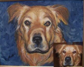 Custom Pet Portrait 8x10 acrylic painting