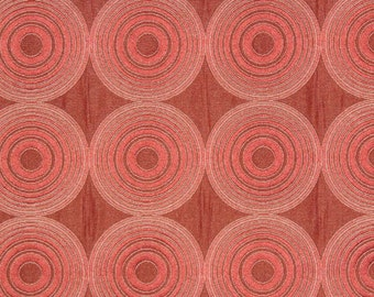 5 Yards Compass Burgundy Geometric Jacquard Upholstery and Drapery fabric