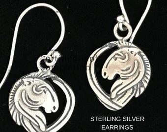 Infinity Jewelry / Earrings / Sterling Silver /   Pam Kellett / Horse Jewelry  / Infinite Love