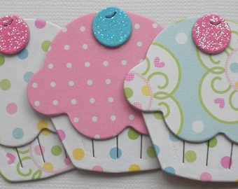 CONFECTiONS - Doodlebug Cupcakes - Invitations Toppers -  Chipboard Cuts