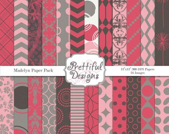 Digital Paper Pack  - Personal and Commercial Use - Madelyn
