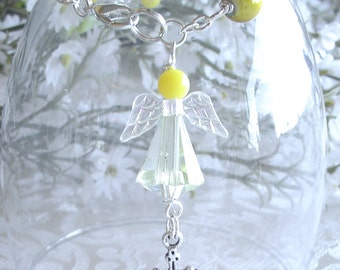 Guardian Angel Anglican Rosary Bracelet in Yellow