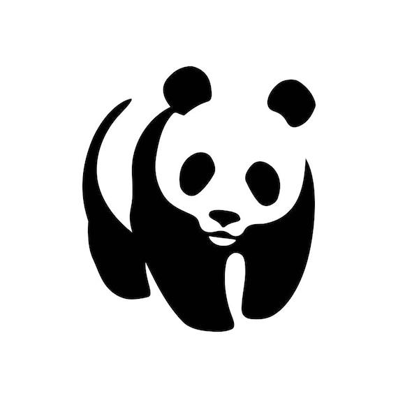 panda bear cute graphics svg dxf eps png cdr ai pdf vector art rh etsy com panda vectoriel panda vector art