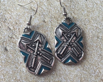 Southwest Jewelry, Southwest Earrings, Southwestern Jewelry, Southwestern Earrings, Jewelry For Women, Gift Ides