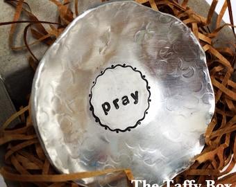 Hand Stamped Prayer Bowl Trinket Dish
