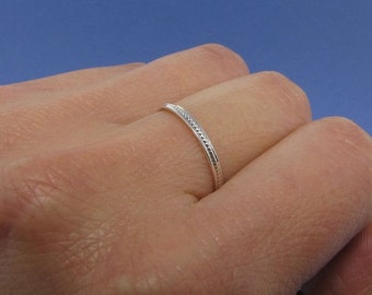 Sterling Silver Dainty Stacking Rings - Thin Rings - Dainty Rings - Minimalist Rings - Promise Ring for Her