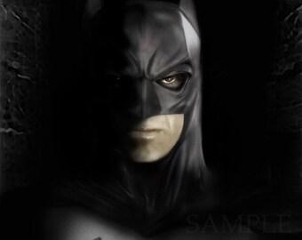 Batman-Darkest Gotham/The Dark Knight/Print/Artwork/Poster/Fine art/Comic Book/Superheroes/DC/Graphic Novel/