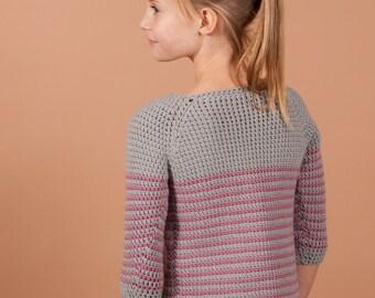 CROCHET sweater PATTERN - Millburn crochet pullover for girls, pattern, crochet pattern, crochet sweater pattern