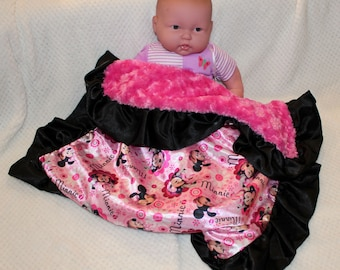 Pink Minnie Mouse Blanket