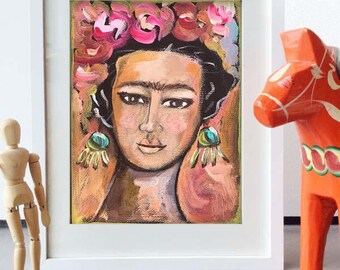 Frida Kahlo Wall Art - Art Print from Original Painting