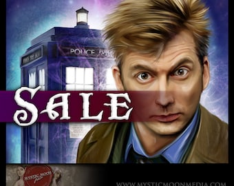 """SALE 20 off - The Tenth - Limited Edition Printing 13""""x19"""" Art Print... Fan Art inspired by the David Tennant from The """"Dr.Who"""" Series"""