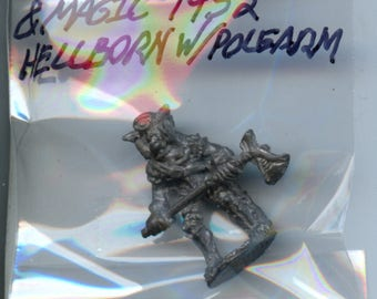 Heritage Knights & Magic 1452 Hellborn with Polearm Metal Miniature