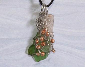 Beachcomber Sea Glass Pendant Necklace