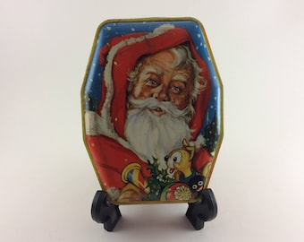 Horner Santa Tin Toffee Tin Candy Tin Sweets Tin Tin Box Santa With Toys Christmas Tin Decorative Litho Box Made in England
