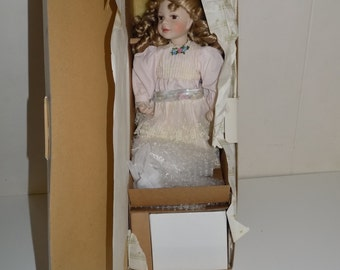Ashton Drake Galleries Retired Melissa Porcelain Doll With Stool