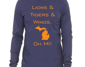 SALE!!!!   Adult Lions, Tigers, and Wings, Oh Mi! Shirt.  Long Sleeve.  NEW!