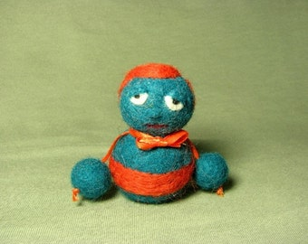 Frank the little felted man free greeting card
