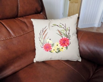 Autumn Harvest Circle Toss Pillow