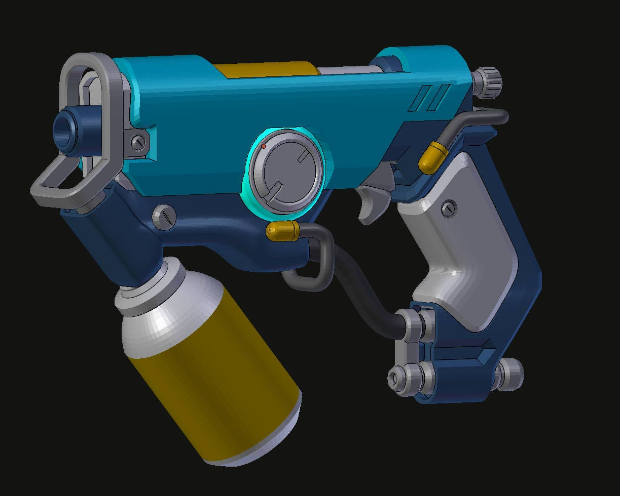 tracemaker pulse pistol graffiti skin 3d printable files