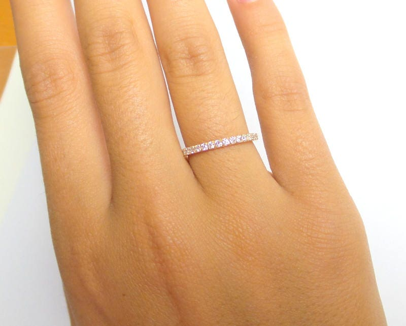 ring anna wedding simple gold rings jewellery product band lightweight dainty thin rei rose