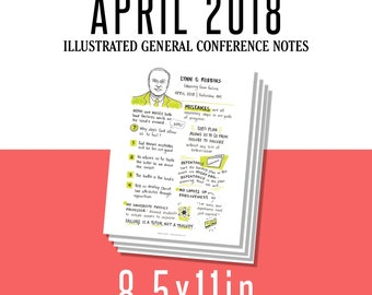1 per page 8.5x11in General Conference Illustrated Notes - April 2018