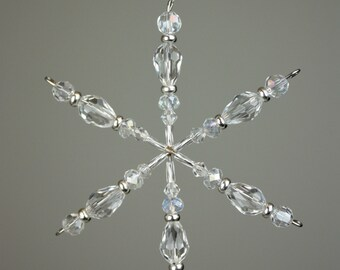 Crystal Snowflake, Crystal Ornament, Snowflake, Christmas, Ornaments