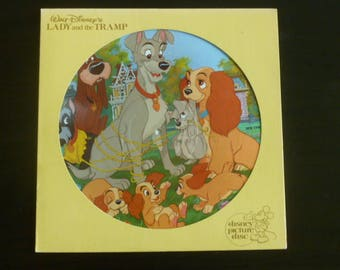 Walt Disney's Lady and the Tramp Disney Picture Disc 3101  Disney Records 1980