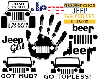 Jeep SVG, Got mud SVG, Go topless SVG, If you can read this, flip me over! svg, Jeep girl svg, Jeep cut files, Jeep bundle svg.