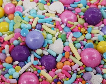 Unicorn sprinkle mix, rainbow sprinkles, unicorn custom sprinkles, cupcake sprinkles, unicorn cake sprinkles, edible birthday sprinkles