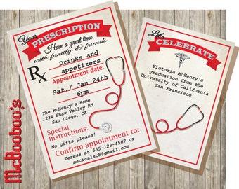 rn graduation invitation nursing graduation party invitation