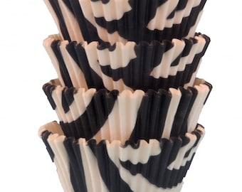 Zebra Stripe Baking Cups - Standard Size