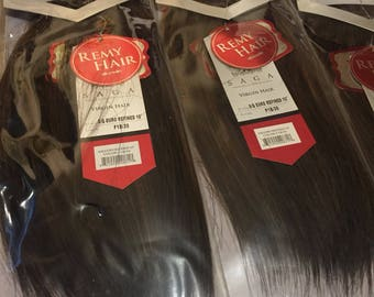 Saga Remy Virgin European  hair X3 packs  weave extensions