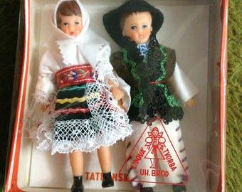 Little Antique Czechoslovakian Tatra Dolls Stocking Stuffers