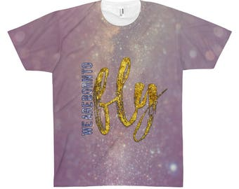 Born To Fly Unisex Aop Sublimation Tee