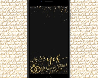 She Said Yes Geofilter Proposal Geofilter Engagement Party Filter Snapchat Wedding Geofilter Engagement Ideas Wedding Proposal Snapchat Gift