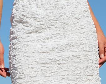 White vintage summer skirt.one size