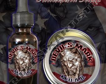 Devil's Mark MOAB Beard Oil Beard Balm Cinnamon Suede