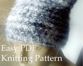 DIY Beanie Knitting Pattern Easy Hat Tutorial Kawaii Ears Knit Easy Circular Knitting Sell What You Make Pussy Hat Project Instant Download