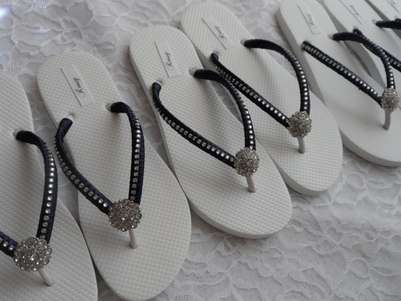 cf139f3f7 ... Flops Flops Flops Flip Blue Flip Rhinestones Flops Bridesmaids Flip  Wedding Flip Colors Bridal Navy Beach