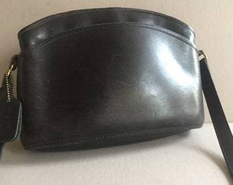 COACH Black Leather ANDERSON Crossbody Handbag #9976 Made in the US