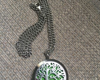 Essential Oil Diffuser - locket -stainless steel- tree of life #EssentialOilDiffuserLocket