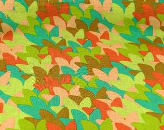 RJR Cotton Fabric Montreux by Lori Mason Peach Coral Teal