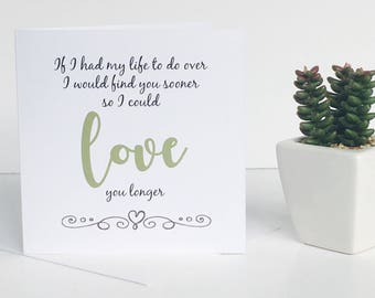 Love You Longer Greeting Card - Valentine Card - Birthday Card  - Boyfriend Card - Girlfriend Card - Anniversary Card - LOVE