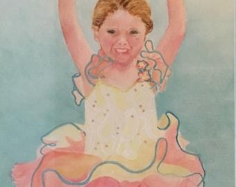 Commission watercolor portrait