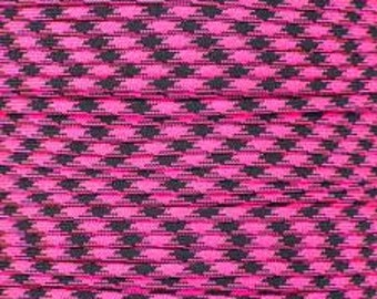100 ft hank of Rosa Noche 550 Paracord by E.L. Wood