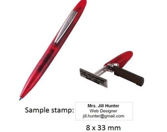 Colop Stamp Writer Pen-Stamp with Custom Personalized Self Inking Stamp 8x33mm