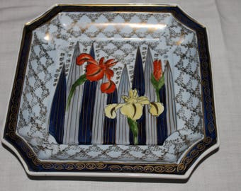 Floral Decorative Square Plate, Sedgefield, Vintage, Lilies, Spring, Easter, Wall Art Plate, Gift for Mother, Sister, Grandma, Daughter